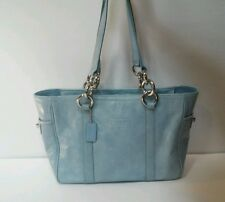 Coach East/West Gallery Patent Leather Tote Bag Sky Blue No F12839