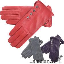 Gants et moufles rouges en cuir pour femme