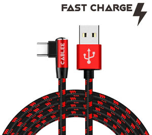 L Shape 90 Type-C USB 4ft 6ft 10ft FAST Charger Sync Cable for Motorola Phone
