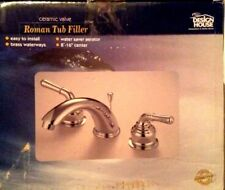 Design House 527028 Polished Chrome Double Handle Roman Tub Faucet Pop up Drain