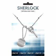 Sherlock Holmes Key Dog Tag Pendant Necklace - Double Retro TV Detective