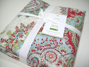 Pottery Barn Multi Colors Alexandra Medallion Print Full Queen Duvet Cover Shams