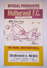 MOTHERWELL v. AIRDRIE SCOTTISH FIRST DIVISION 1 JANUARY 1965 FIR  PARK