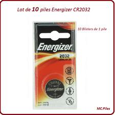 Set di 10 batterie pulsanti CR2032 litio Energizer