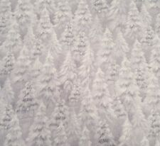 Woodland Wonder Sarah Summers Quilting Treasures BTY Snow Forest Tree Gray