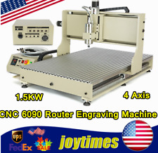 15kw 4 Axis Cnc 6090 Router Engraving Milling Drill Machine Usb Port Engraver