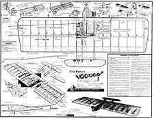Carl Goldberg Voodoo PLAN Ligne de contrôle Combat Modèle pour .35