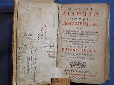 BOOK GREEK H KAINH DIATHKH NOVUM TESTAMENTUM, MAPS JOHANNE LEUSDEN 1740 AMSTELAE