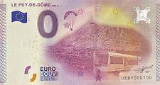 BILLET 0  EURO PUY DE DOME  FRANCE  2015  NUMERO 100