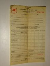 original 1936 Standard Oil of New York SOCONY Invoice Receipt 350130 Gas
