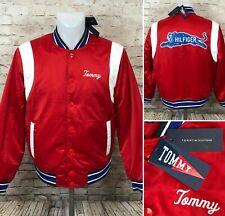 Tommy Hilfiger University Satin Bomber Jacket Varsity...