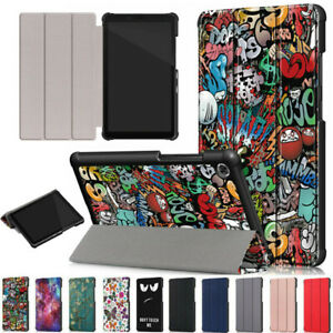 """For Lenovo Tab M7 Tablet (3rd Gen) TB-7306F 7"""" PU Leather Flip Stand Case Cover"""