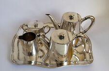 Wiskemann5-teiliger Kaffee/Teekern versilbert Art Deco