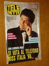 TELESETTE 1990/35=FABRIZIO FRIZZI=DANNY LOSITO=KATRIN QUINOL=ALESSANDRO LORENTI=