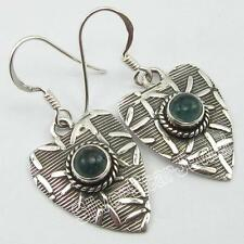 """925 Stamped Sterling Silver APATITE Dangle Earrings 1.4"""" ! Anniversary Gift"""