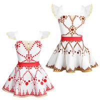 Toddler Girls Dress Movie Ballerina Leap Dance Ballet Tutu Dress Cosplay Costume