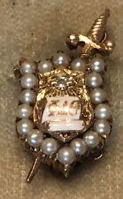 14K Gold Phi Delta Theta Fraternity Pin - Pearls - Vintage