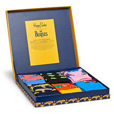 Happy Socks Limited Edition Men's Gift Box - The Beatles LP Collection - 6 Pack