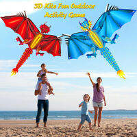 3D Kite Kids Toy Fun Outdoor Flying Activity Game Children With Tail Outdoor AU