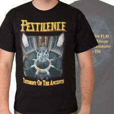 PESTILENCE-TESTIMONY OF THE ANCIENTS-T-SHIRT-LARGE-RARE