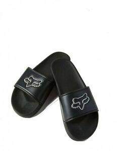 Fox Unisex Track Slides Black