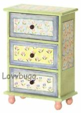 Tall Floral Chest of Drawers Furniture for American Girl 18 inch Doll LOVVBUGG!