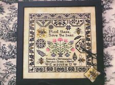 Save the Bees Sampler Lila's Studio Primitive Cross Stitch Pattern