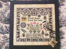 Save the Bees Sampler Lila's Studio Primitive Cross Stitch Pattern