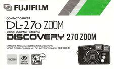 Fujifilm Discovery DL-270 Zoom 35mm Kamera Besitzer Bedienungsanleitung-Fuji