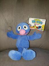 """TYCO 1997 Sesame Street GROVER And HONKER 8"""" Bean Bag Plush"""