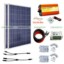 2*100W Home Complete System : 200W Solar Panel with 1KW Pure Sine Wave Inverter