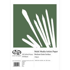 A3 Curtisward Multi Media Artists Paper Pad. For Pencil, Pastel, Watercolour etc
