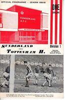 1969 (Feb. 1) Soccer program, Division I, Sunderland vs. Tottenham H. ~ Wembley