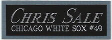 CHRIS SALE NAMEPLATE FOR AUTOGRAPHED Signed Baseball Display CUBE CASE