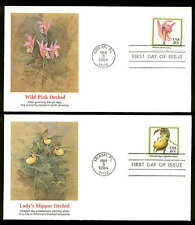 2076-2079 ORCHIDS FDC MIAMI, FL  SET of 4 FLEETWOOD COVERS