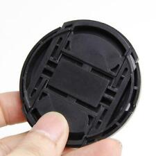 Portable 52mm Center Pinch Snap Front Lens Cap Cover  Camera String New T1Y5