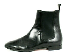 CHRISTIAN LOUBOUTIN Black Leather Square-Toe Chelsea Ankle Boots 37.5