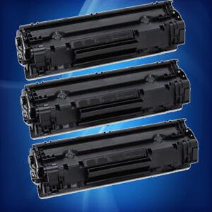 3PK NON-OEM Black Toner CF283A for HP 83A M127fn,M127fw,M125nw,M125