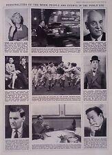 1965 PRINT JENNIE LEE-COMPTON MACKENZIE-TWICKENHAM RUGBY-STAN LAUREL-HUW WHELDON