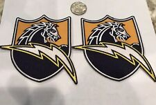 "(2)-San Diego Chargers  embroidered iron on patch  4""x 3 1/2"" Awesome!"