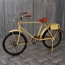 XL Blechmodell Fahrrad 30cm beige creme Metallmodell Bike Rad Blech Metall NEU