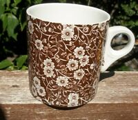 Vintage  Brown  Calico  Crownford  Staffordshire   JUMBO MUG   20 OUNCES RARE