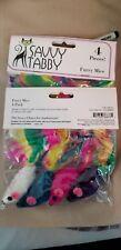 Savvy Tabby US138804 Furry Mice Cat Toys- 4-Packs NEW