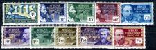 AEF 1939 Yvert 77-86 ** POSTFRISCH (F3423