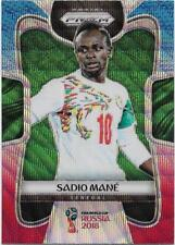 2018 Panini FIFA World Cup Blue Red Wave Prizm (282) Sadio MANE Senegal