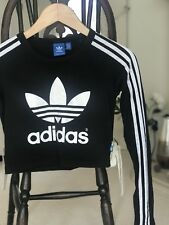 Adidas Originals Trefoil Crop Top / T Shirt / Vest / Gym Jumper. Stretch,Vintage