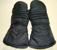 Vintage Insulated Yamaha Snowmobile Mittens Leather Palms sz Small EUC