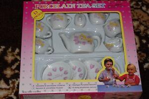 Dutch Spanish Sleeping Beauty Princess Porcelain Tea Set 13 Pieces NIB