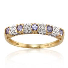 Anelli di lusso con gemme blu oro giallo tanzanite