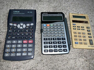 Job Lot - Vintage 3 X Calculators